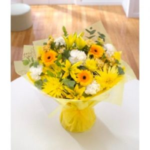 golden sunshine handtied bouquet