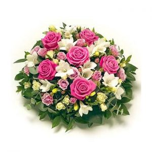 large pink posy