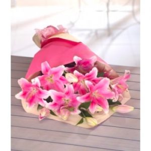 simply lilies pink bouquet